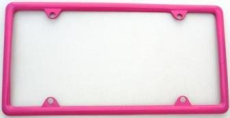 Hot Pink Slimline Metal License Plate Frame