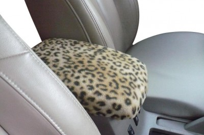 Leopard Console Armrest Cover